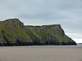 View of the cliffs at Rhossili, one in a sequence of shots along their length.