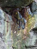 Rhossili cliff limestone rock texture