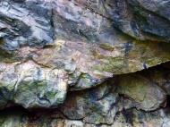 Limestone rock texture in Rhossili cliffs
