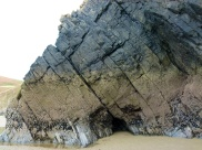 Section of Rhossili cliff