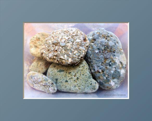 Textured pebbles