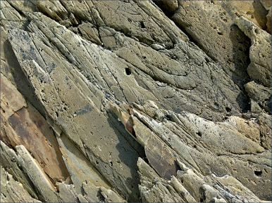 Natural pattern, shape, and texture in Silurian bedrock at Ferriters Cove