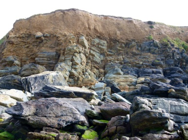 Silurian Period rocks belonging to the Dunquin Group on the Irish Coast.