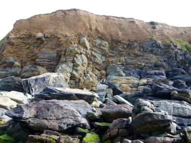 Silurian Period rocks belonging to the Dunquin Group on the Irish Coast.