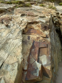 Rock colour and texture in Silurian Period silt stones and sandstones from the Drompoint Formation in Dingle