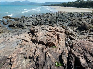 Bedrock and boulders near the Lookout by Four Mile Beach in Port Douglas