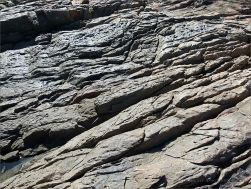 Structure of rock on the outcrop with the Lookout near Four Mile Beach in Port Douglas