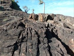 Structure in a rock outcrop near Four Mile Beach in Port Douglas