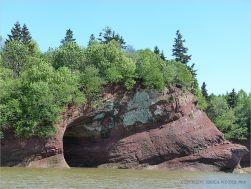 Triassic Period rocks in cliffs at St Martins, New Brunswick