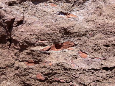 Triassic conglomerate on the beach at Waterside in New Brunswick