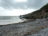 View looking west at Pwll Du Bay