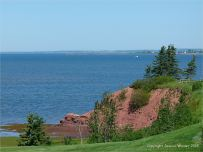 View from the Belfast Golf Club at Lord Selkirk Provincial Park in PEI over the Northumberland Strait