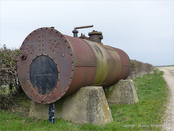 Old rusting iron water tank
