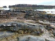 Rock strata on the beach at Fermoyle