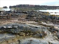 Rock strata on the beach at Fermoyle