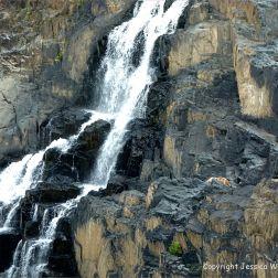 Water cascading over rocks in barron Gorge in Queensland, Australia