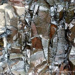 Close-up of rock pattern and texture at Red Point on Grand Manan in New Brunswick, Canada.