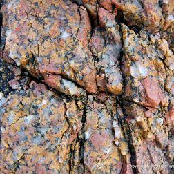 Close-up of granite at Dogs bay in Connemara in Ireland