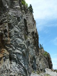 The cliffs at Cape Enrage