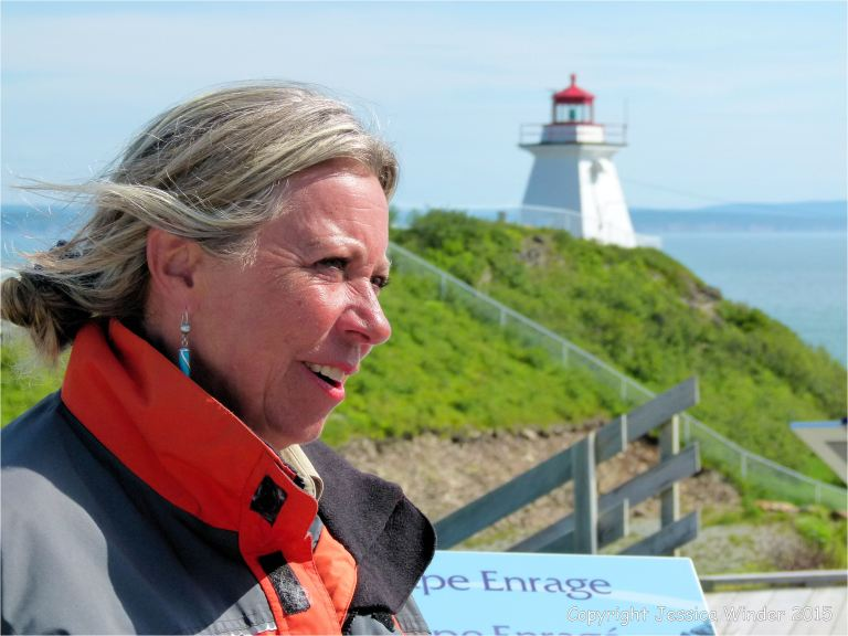 Friendly guide at Cape Enrage