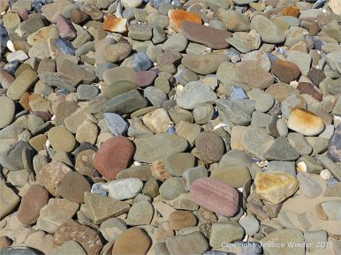 Pebbles on the beach near Whiteford Point