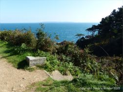The way down to Marble Bay in Guernsey