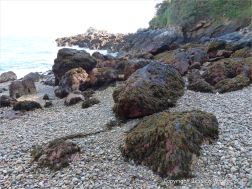Boulders on the beach at Marble Bay