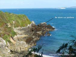 Wave-cut platform at Marble Bay