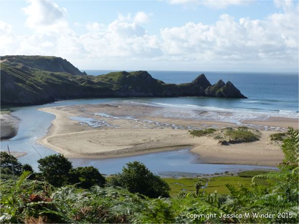 View of Threecliff Bay on the Gower Peninsula