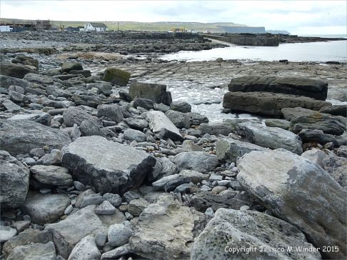 View looking south towards Doolin Quay and the Cliffs of Moher