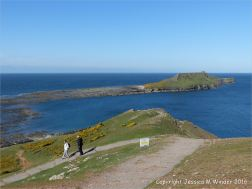 The path down to the Worm's Head Causeway