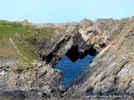 Natural rock bridge