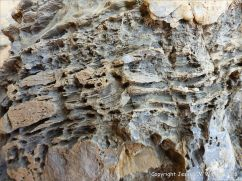 Rock texture and pattern in Carboniferous Limestone Pembroke Formation rocks at Three Cliffs Bay