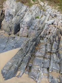 Carboniferous Pembroke Group Limestone strata at Three Cliffs Bay