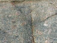 Close-up of L'Eree Granite with possible 'ghost' xenolith