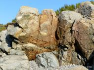 Outcrop of L'Eree Granite