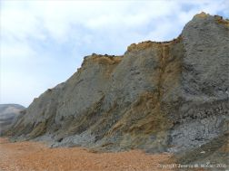 Lower Lias and Middle Lias rocks in cliffs at Seatown in Dorset, England