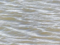 Water pattern and texture on rippled shallow waves