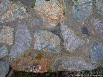 Metamorphic rocks in a wall at Cap Rouge on the Cabot Trail