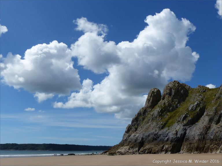 The limestone formation of Great Tor on the Gower Peninsula