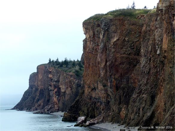 The brooding basalt cliffs at Cap d'Or in Nova Scotia