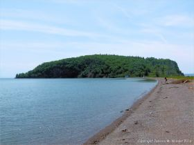 View of Partridge Island from the beach to the east