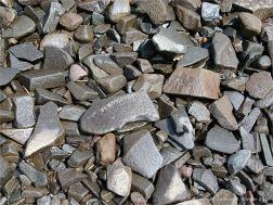 Beach stones mainly of volcanic basalt at Partridge Island