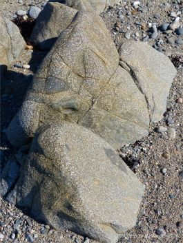 Close-up of rock texture at Rocquaine Bay