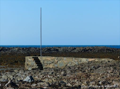 Stone jetty at Rocquaine Bay