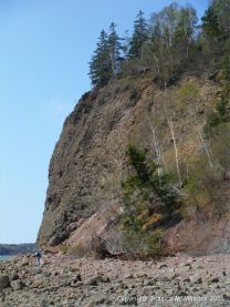 Wasson Bluff viewed from the east