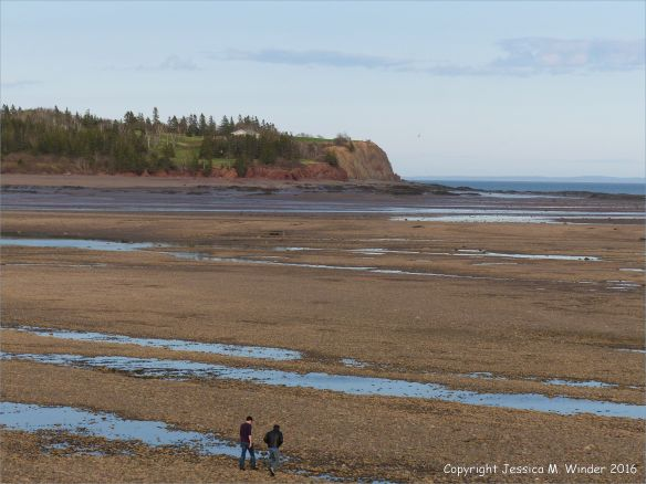 Beachscape with red cliffs at Parrsboro, Nova Scotia, Canada.