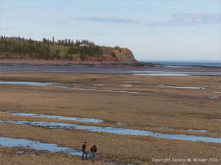Beachscape with red cliffs at Parrsboro, Nova Scotia, Canada.