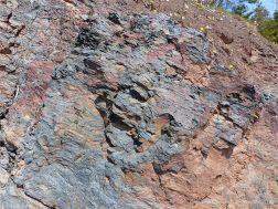 Triassic-Jurassic Blomidon Formation rocks at Wasson Bluff