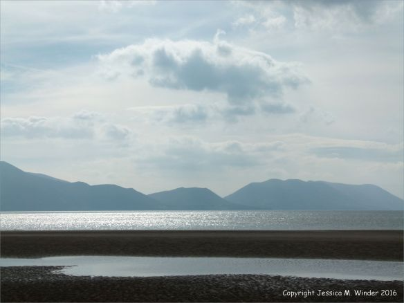 View across the sandy beach at Inch on the Dingle Peninsula in Ireland